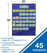 Deluxe Calendar Pocket Chart Product Image