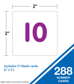 Numbers 1-120 Board Pocket Chart Product Image