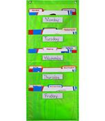 File Folder Storage: Lime Pocket Chart Product Image