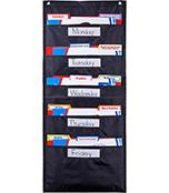 File Folder Storage: Black Pocket Chart Product Image