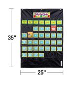 Deluxe Calendar: Black Pocket Chart Product Image
