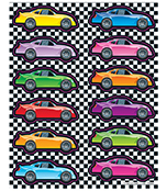 Race Cars Shape Stickers