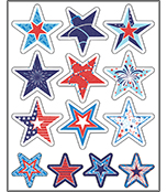 Star-Spangled Shape Stickers Product Image
