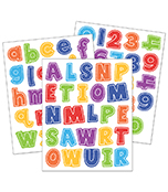 School Tools Letters and Numbers Sticker Pack Product Image