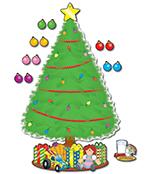 Big Christmas Tree Bulletin Board Set