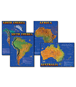 Seven Continents of the World Bulletin Board Set Product Image