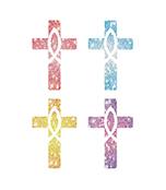 Crosses Dazzle™ Stickers