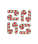 Candy Canes Dazzle™ Stickers