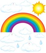Big Rainbow Bulletin Board Set Product Image