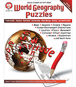 World Geography Puzzles Resource Book Product Image