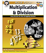 Math Tutor: Multiplication and Division Resource Book Product Image