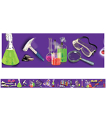 Science Lab Tools Straight Borders Product Image