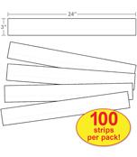 Sentence Strips, Lined White Sentence Strips