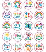 Faith Shape Stickers
