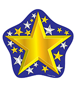 Gold and Silver Stars Cut-Outs