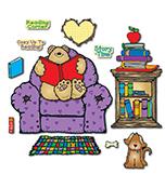 Cozy Reading Center Bulletin Board Set
