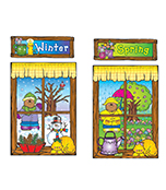 Four Seasons Windows Bulletin Board Set Product Image