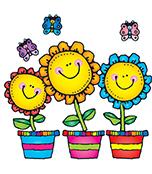 Blooming Flowers Bulletin Board Set