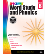 Spectrum Word Study and Phonics Workbook Product Image