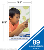 Photo Conversation Cards for Children with Autism and Asperger's Learning Cards Product Image