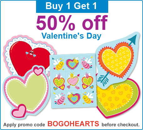 Buy 1 Get 1 50% Off Valentine's Day Promotion