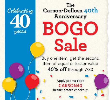The Carson-Dellosa 40th Anniversary Sale