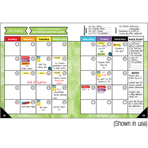 celebrate learning teacher planner month inside page
