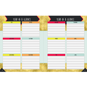 aim high teacher planner year at a glance