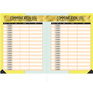 aim high planner communication log