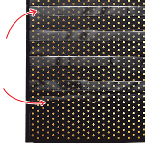 Deluxe Scheduling: Gold Polka Dot Pocket Chart Sturdy Grommets