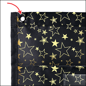 File Folder Storage: Gold Stars Pocket Chart sturdy grommets