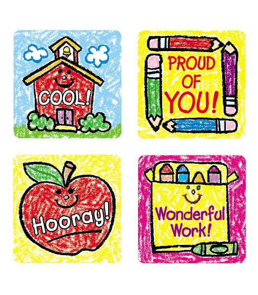 School Days: Kid-Drawn Motivational Stickers Product Image