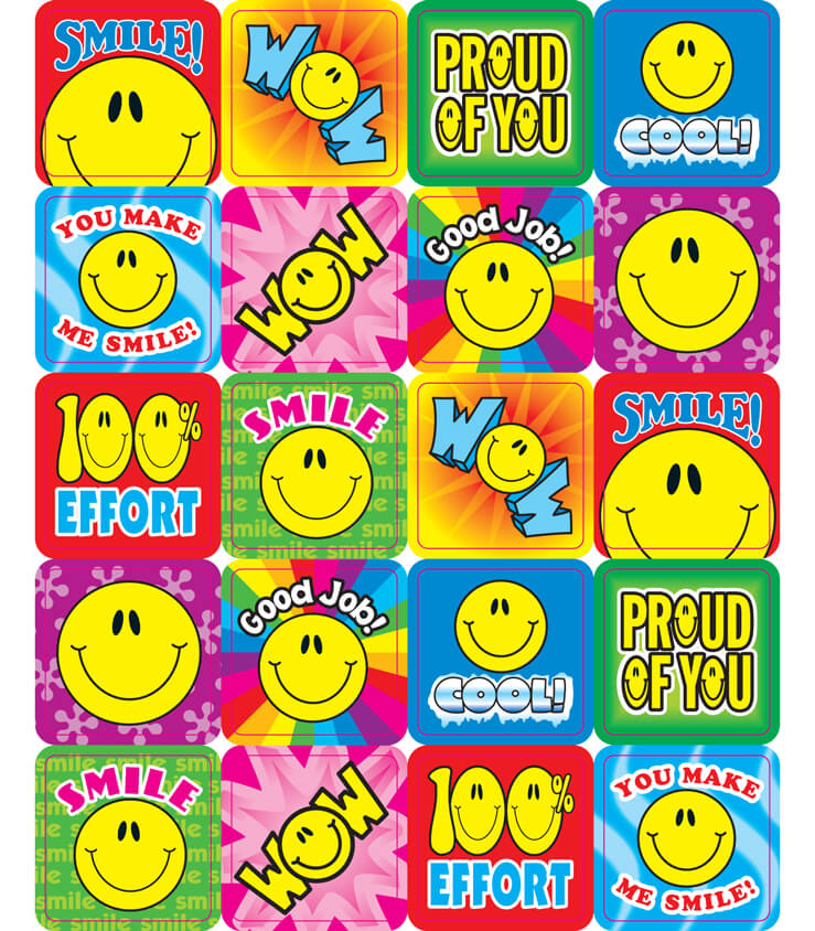 Smile Fun Motivational Stickers Product Image