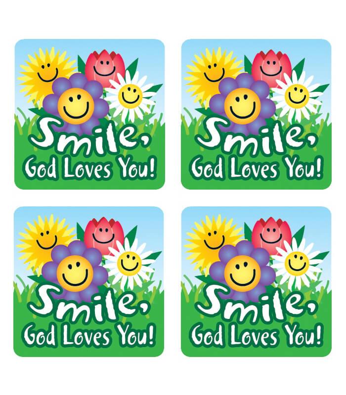 Smile, God Loves You! Sticker Pack Product Image