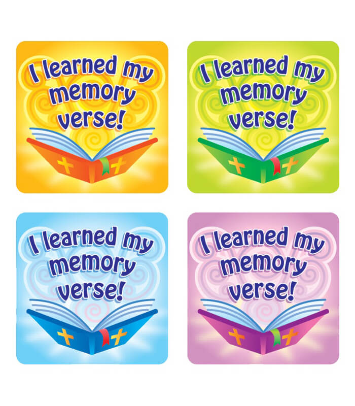 I Learned My Memory Verse! Sticker Pack Product Image