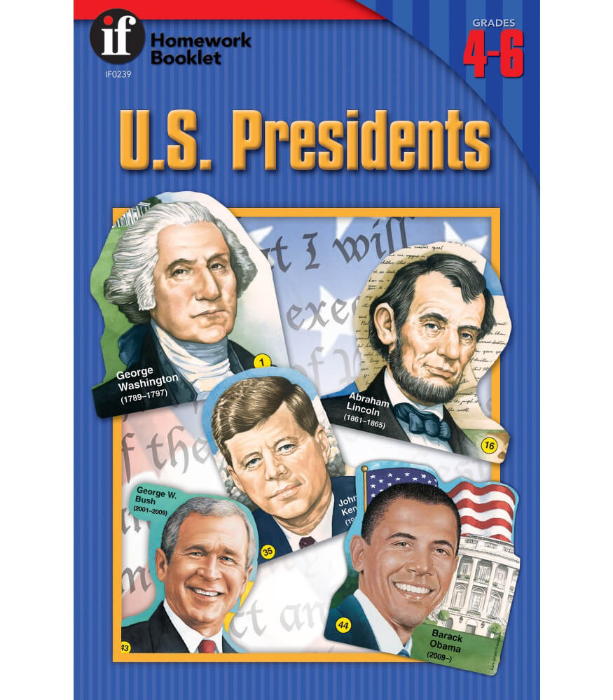U.S. Presidents Homework Booklet Workbook