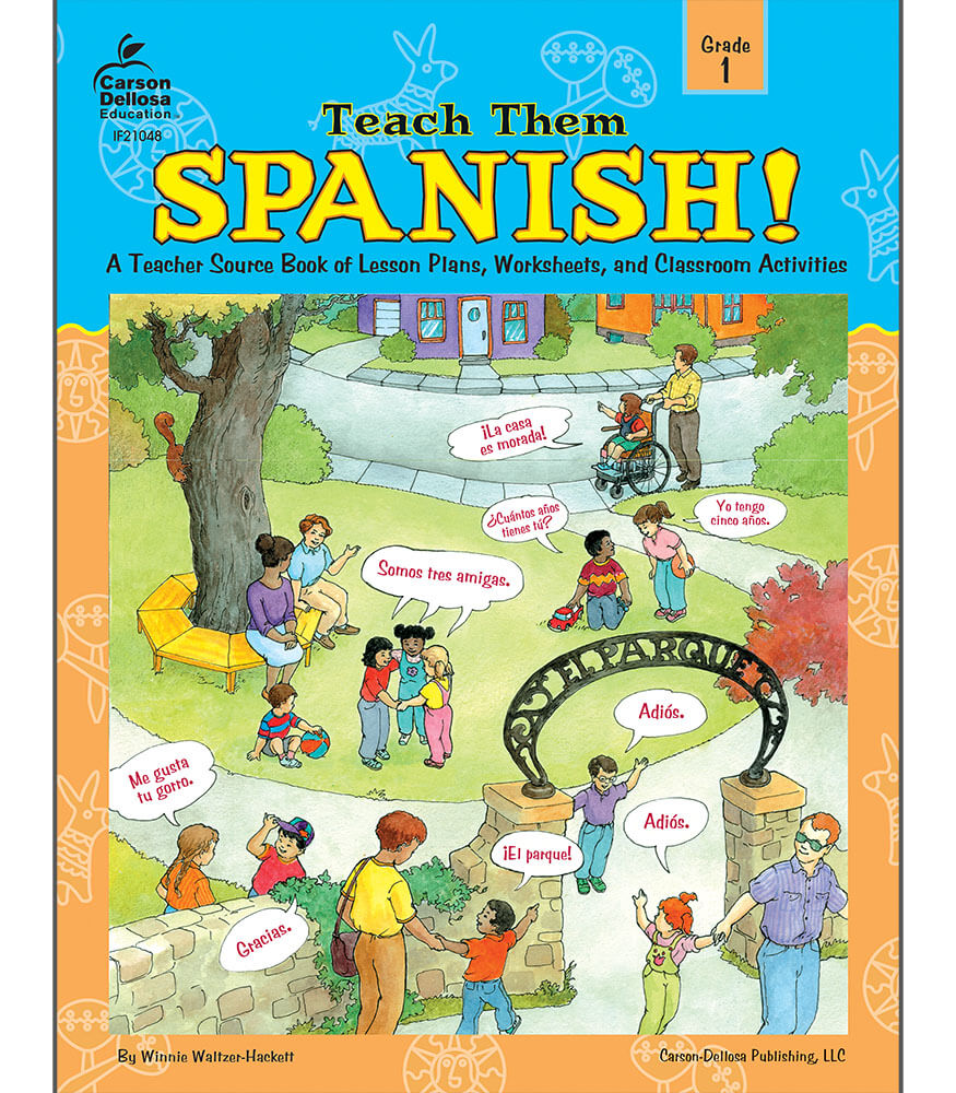 worksheet Carson-dellosa Worksheets teach them spanish resource book grade 1 book