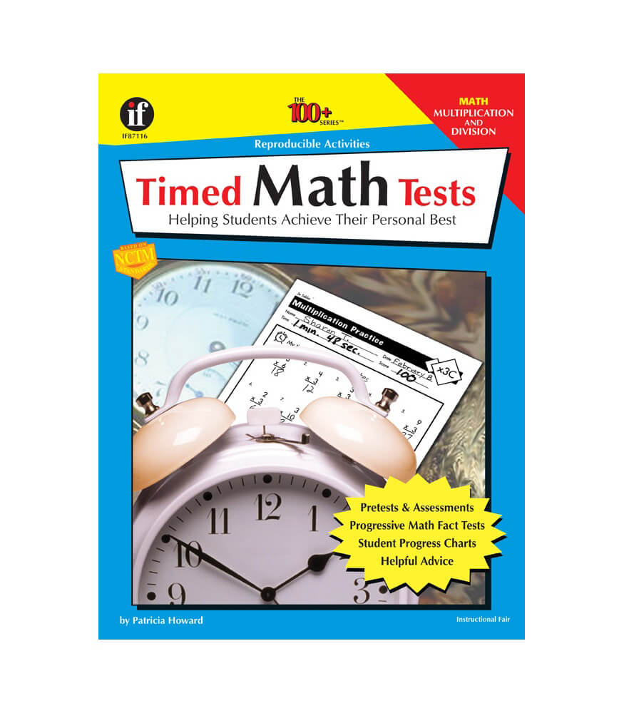 Timed Math Tests, Multiplication and Division Resource Book Product Image