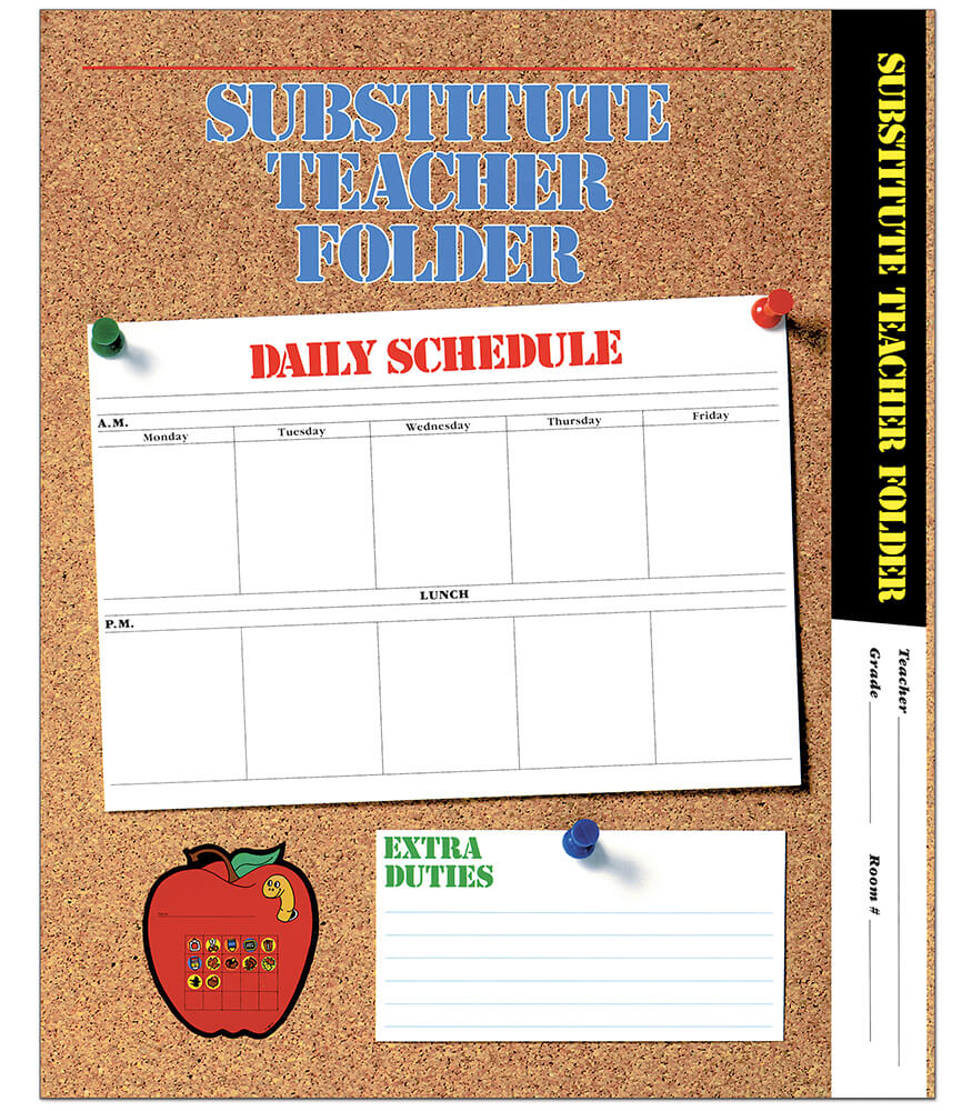 Elementary Substitute Teacher Folder Product Image