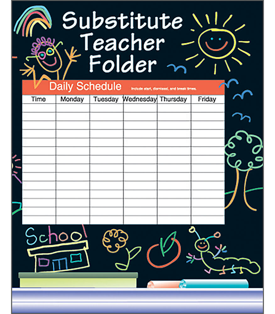 24-pack Elementary Substitute Teacher Black Folder Product Image