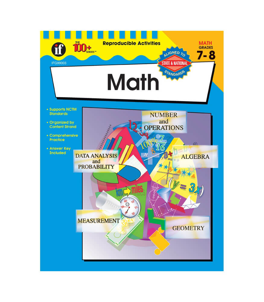The 100+ Series Math Workbook Grade 7-8