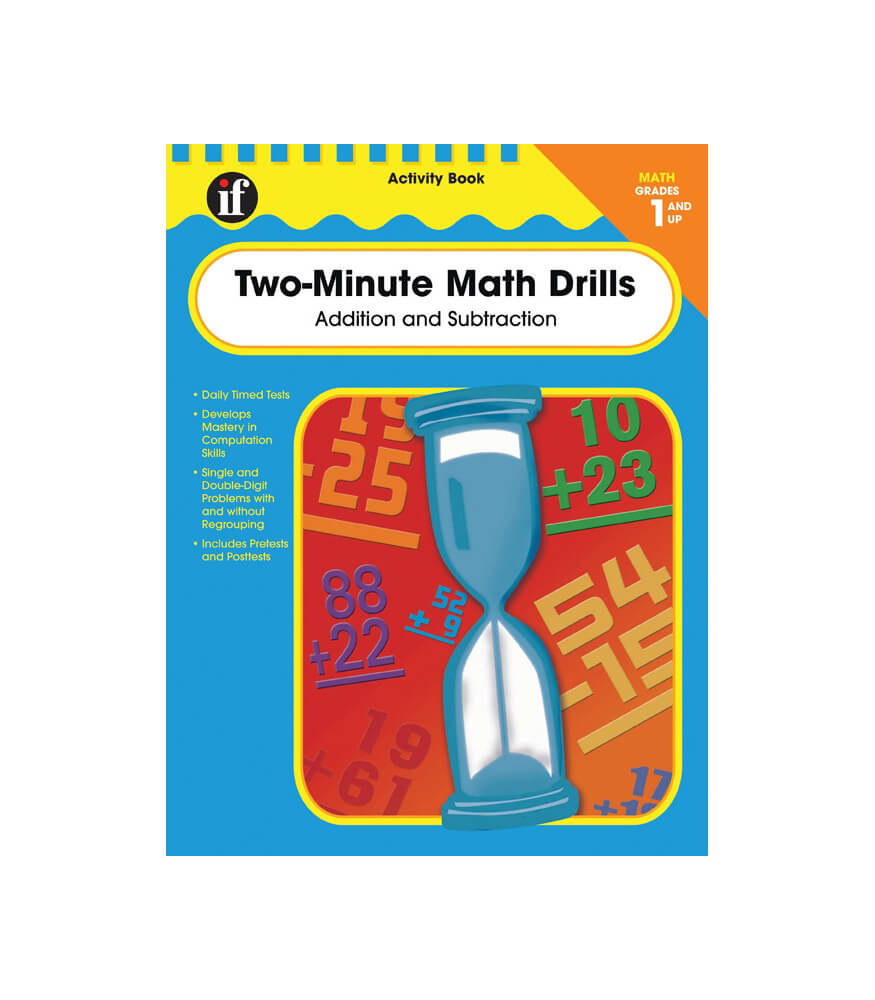 Two-Minute Math Drills Workbook Grade 1-3