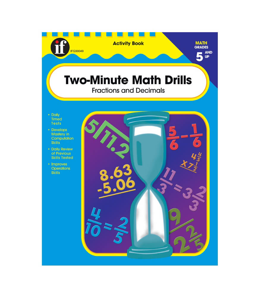 Two-Minute Math Drills Workbook Grade 5-8