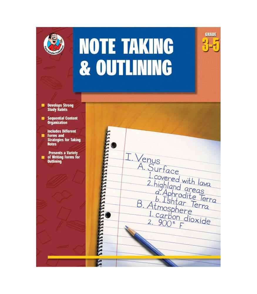 Note Taking & Outlining Resource Book Product Image