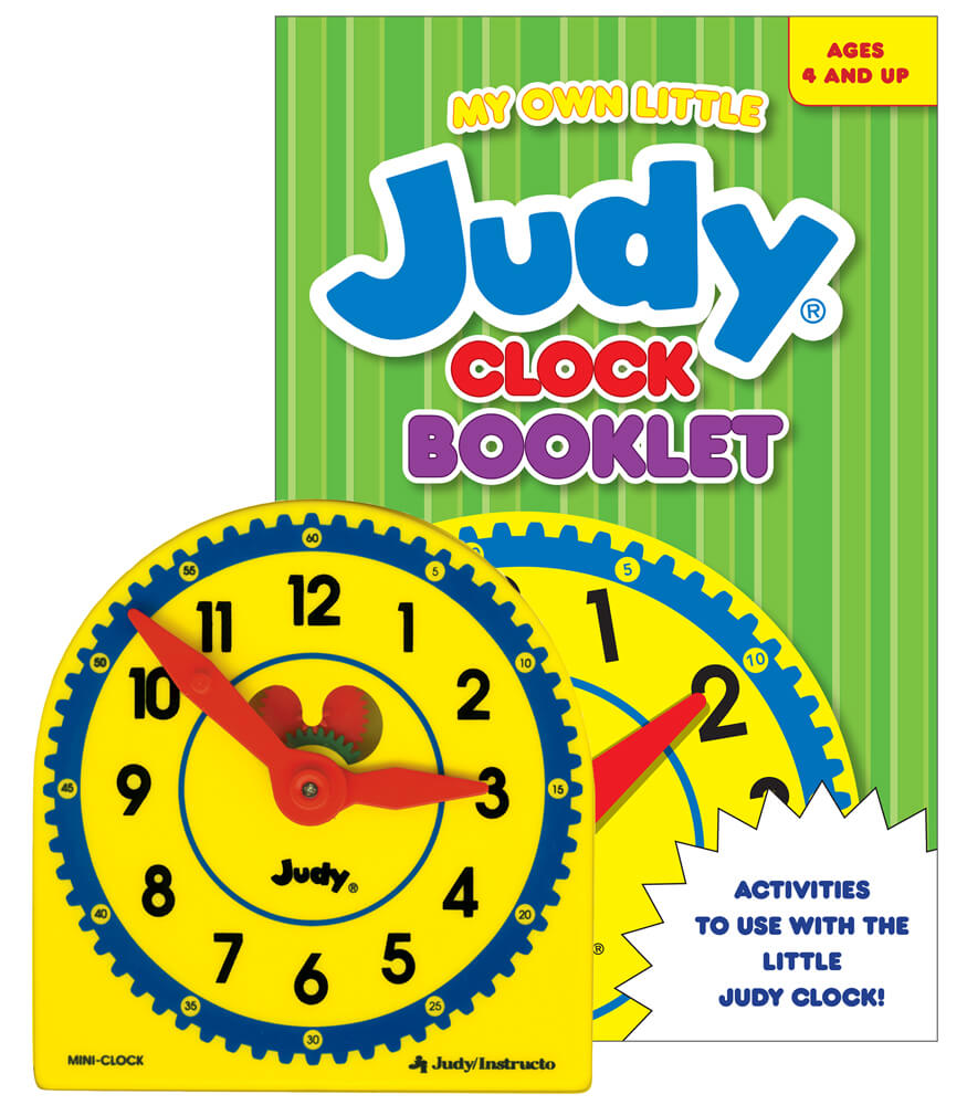 My Own Little Judy® Clock with Booklet Manipulative Product Image