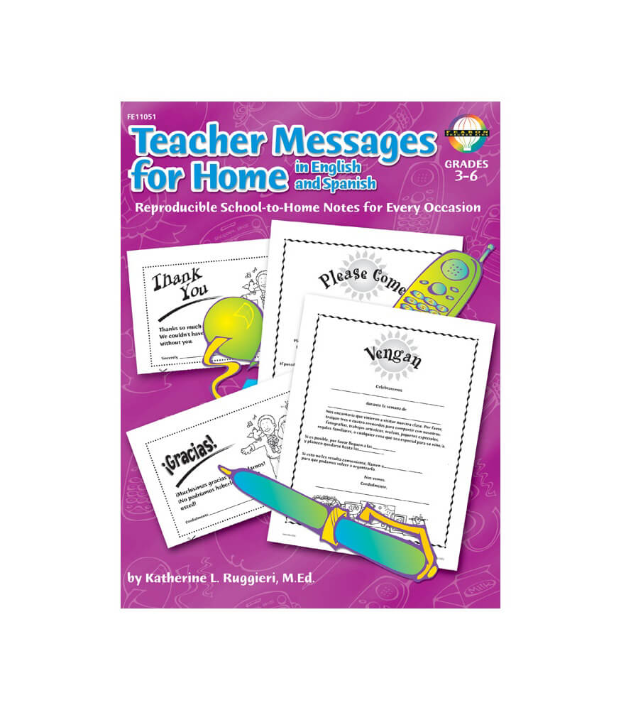 Teacher Messages for Home, English/Spanish Resource Book Product Image