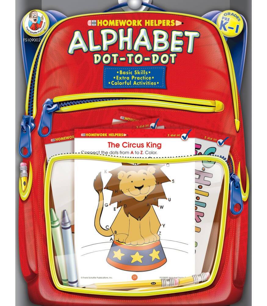 Homework Helper Alphabet Dot-to-Dot Activity Book Product Image