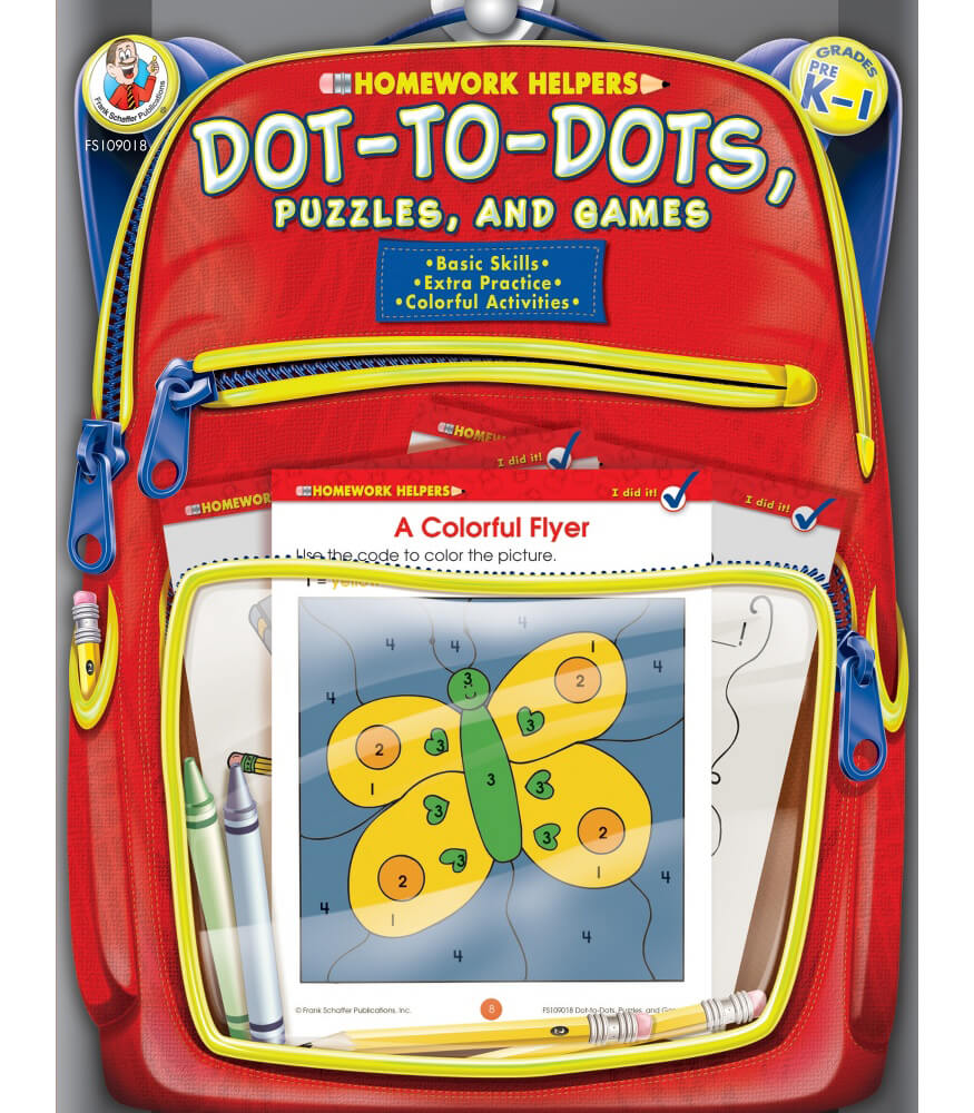 Homework Helper Dot-to-Dot, Puzzles, and Games Activity Book Product Image