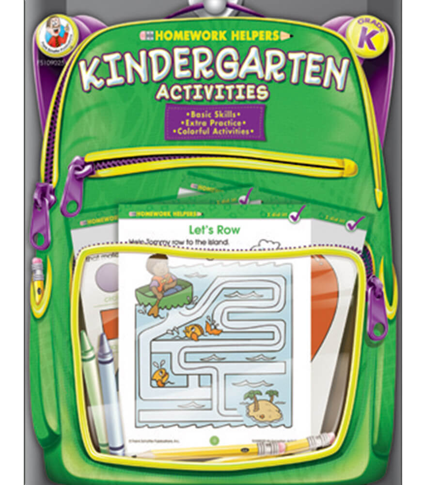 Homework Helper Kindergarten Activities Workbook Product Image