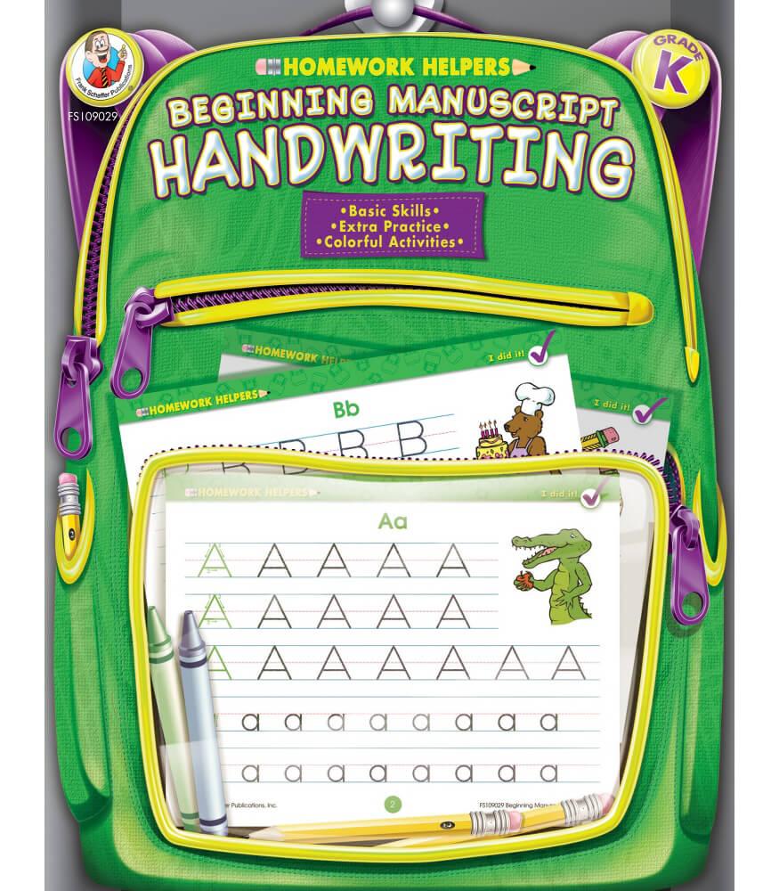 Homework Helper Beginning Manuscript Handwriting Workbook Product Image